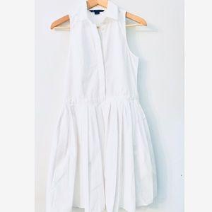 A/X Armani Exchange white Shirt Dress Sz 6 Knee L.